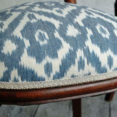 Victorian Balloon Back Chair with Ikat