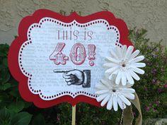 Vintage 40 º cumpleaños fiesta signo por DragonFlyPapier en Etsy, $20.00  I would write vintage 1974