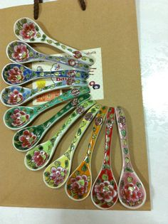 Peranakan/Straits Chinese Porcelain: Spoon. by LittleNyonyaBatik
