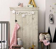Chambre petite fille couleurs neutres et douces gris et elements deco rose pale – Décoration Maison et Idées déco Peinture par Pièce