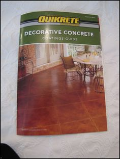 """New """"Tile"""" Patio Floor Reveal! (and giveaway winner!) – Beneath My Heart Ef… Concrete Steps, Concrete Patio, Concrete Floors, Concrete Staining, Pavers Patio, Patio Stone, Patio Plants, Concrete Projects, Walkway"""