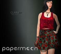 PaperMoon- CLARA Skirt-  Poppy/Green