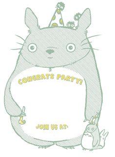 Totoro Party Invitation by ~Applefritter on deviantART