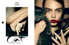 'Cat' Edie Campbell, Cara Delevingne & Janice Alida by Liz Collins for Love No.9 SS 2013 1
