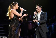They make a great team! Jennifer Lopez took to the stage with Marc Anthony as they sang a duet