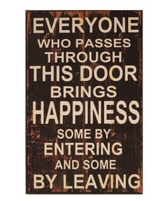 Love this 'Everyone' Wall Sign by VIP International on #zulily! #zulilyfinds