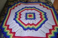 Rainbow Ripple baby afghan