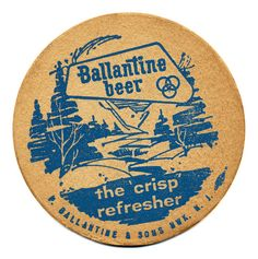 "Ballantine Beer, the ""crisp"" refresher"