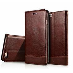 Lujo magnética wallet case para apple iphone 6 6 s/6 6 s plus tirón de la cubierta de la pu soporte de cuero del teléfono fundas estuches para iphone 7 7 Plus