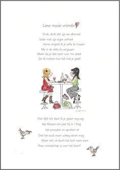 Wenskaart ` Lieve mooie vriendin ` | Assortiment Wenskaarten | corinnavankeekenwebshop