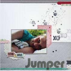 Scrapbook Seite von Jumper mit Stampin Up, Amy Tangerine, Project Life, Heidi Swapp, Papierprojekt
