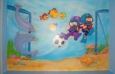 mar 19 Habitación decorada con mural infantil