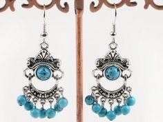 Turquoise and silver earrings.  $5.99   #jewelry #bracelet #turquoise #earrings #amethyst #turquoise earrings #turquoise bracelet