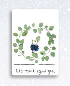New year's postcard illustrated by Claudi Kessels ~ Seen on HappyMakersBlog.com