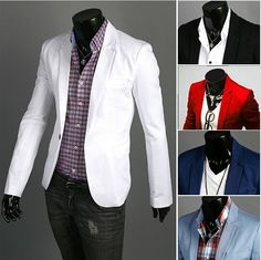Fashion Blazer Men 2017 New Spring Autumn Clothing Candy Colors Blazer masculino Casual  Slim Fit Wild terno Men's Suit Jacket