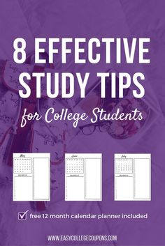 8 effective study tips for college students College Life Hacks, College Fun, College Students, College Tips, School Hacks, College Planning, School Tips, School Ideas, Education Quotes For Teachers
