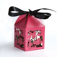 Laser cut favor box Cherry Blossom by KatBluStudio on Etsy, $2.88 party favor. I'll put my gold fortune cookies in it.