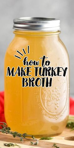 Turkey Broth is simple to make, freezes really well, and is great to replace chicken stock in all of your favorite recipes.