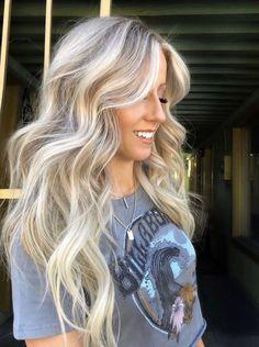 Cool Toned Blonde Hair, Light Blonde Hair, Blonde Hair Looks, Brown Blonde Hair, Toning Blonde Hair, Light Blonde Balayage, Ashy Blonde, Bright Blonde, Champagne Blonde Hair