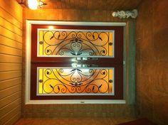 Wrought Iron Glass Door Insert Installation Completed In Aurora Ontario, By York Home Improvement Supplies!