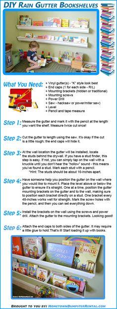 How to make a gutter bookshelf