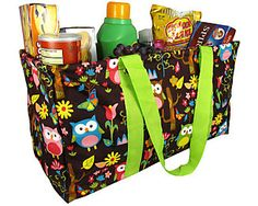Discount Owl Give a Hoot Collapsible Haul-It-All Utility Basket #WQL401-LIME - Wholesale Accessory Market