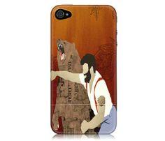 Man Punching Bear iPhone Case.