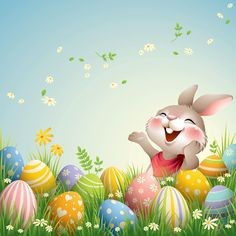 Easter Bunny With Big Egg Ilustração de stock - Getty Images Easter Bunny Pictures, Cute Easter Bunny, Easter Art, Hoppy Easter, Easter Crafts, Easter Eggs, Ostern Wallpaper, Happy Easter Messages, Easter Illustration
