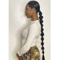 Baddie Hairstyles, Sleek Hairstyles, Ponytail Hairstyles, Black Women Hairstyles, Weave Hairstyles, Bubble Ponytail, Braided Ponytail, Hair Hacks, Hair Tips