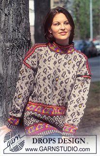 Women - Free knitting patterns and crochet patterns by DROPS Design Fair Isle Knitting, Free Knitting, Free Crochet, Knit Crochet, Baby Knitting, Crochet Top Outfit, Drops Design, Sweater Knitting Patterns, Crochet Patterns