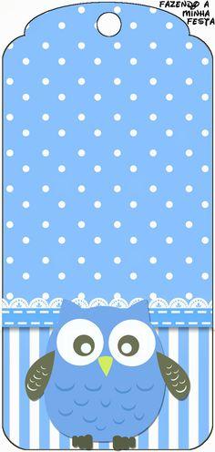 http://fazendoanossafesta.com.br/2013/12/corujinha-azul-para-meninos-kit-completo-com-molduras-para-convites-rotulos-para-guloseimas-lembrancinhas-e-imagens.html