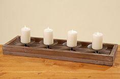 Kerzenständer mit Dorn, Kerzenleuchterschale Aura