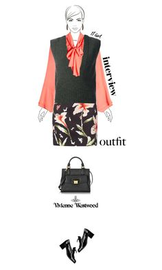 """""""Office outfit: Coral - Floral - Black"""" by downtownblues ❤ liked on Polyvore featuring Vivienne Westwood and Chico's"""