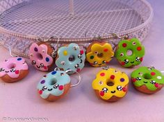 Kawaii cute colorful Donuts earrings  ✿◕‿◕✿  http://www.rilakkumashop.nl/