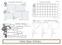 FREE printables: Candy Bones Math Activities, perfect for Halloween week. Pirate Activities, Word Family Activities, Graphing Activities, Halloween Activities, Fun Activities, Halloween Games, Pirate Games, Halloween Crafts, Holiday Crafts