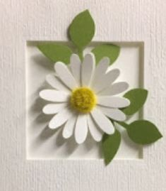 Daisy Art, Daisies, Paper Crafts, Plants, Cards, Inspiration, Biblical Inspiration, Margaritas, Tissue Paper Crafts