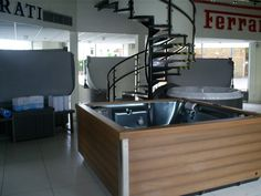 Our showroom in the centre of Bolton has a display of both new and used hot tubs