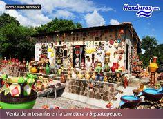 Venta de Artesanias en la Carretera a Siguatepeque Honduras