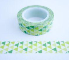 Modern Green Triangles Washi Tape