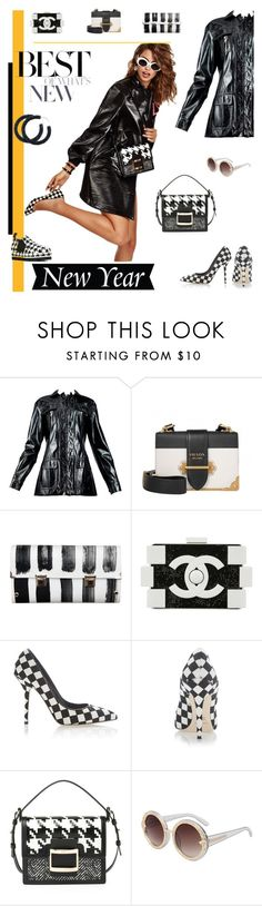 """Patent Leather and Checks"" by fl4u ❤ liked on Polyvore featuring Prada, Spanaki, Chanel, Dolce&Gabbana, Roger Vivier, MSGM, men's fashion, menswear, Leather and trendsreport"