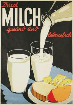 This is a German advertisement for milk and I found it favorable as it resembles many of the commercial that involve breakfast when the product is surrounded by a full meal causing the consumer to find the product fitting and necessary when they take part in having breakfast. #TRCM454