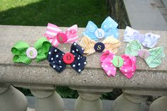 Reverse The Course Initialed Bows     http://www.reversethecourse.org/en/bows-and-barrettes.html