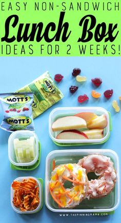 Sep 2016 - Turkey Bagel lunch box idea for kids! Just one of 2 weeks worth of non-sandwich school lunch ideas that are fun, healthy, and easy to make! Grab your lunch bag or bento box and get started! Non Sandwich Lunches, Lunch Snacks, Healthy Afternoon Snacks, Healthy Snacks, Healthy Tips, Easy Lunch Boxes, Lunch Ideas, Peru, Kindergarten Lunch