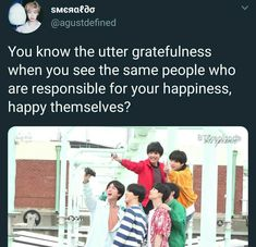 everytime i see bts smiling and enjoying themselves, it makes me feel this way <-- that's so true, I love it when they are just silly and laugh the whole time Taehyung, Namjoon, Bts Boys, Bts Bangtan Boy, About Bts, Bulletproof Boy Scouts, I'm Happy, Kpop Groups, K Pop