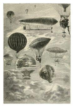 How will we adventure? (Leon Benett Illustration from Robur le Conquerant)