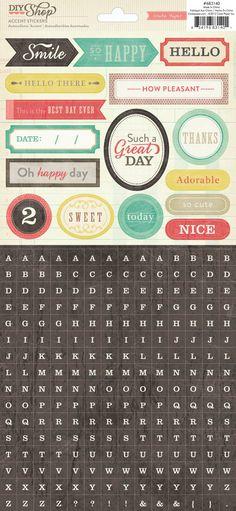 Crate Paper DIY Shop Accent Stickers - Alpha
