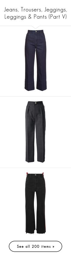 """""""Jeans, Trousers, Jeggings, Leggings & Pants (Part V)"""" by plnzh ❤ liked on Polyvore featuring jeans, pants, bottoms, stella mccartney, indigo, cropped jeans, high-waisted jeans, wide leg cropped jeans, high rise jeans and high waisted stretch jeans"""