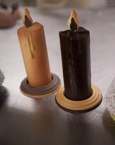 candele di cioccolato bianco e fondente Natale Omar Busi