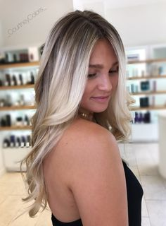 Ice ice ice! Bright beautiful cool blonde by @_CourtneyColors_