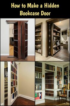 Learn how to build a secret bookcase door for your home!